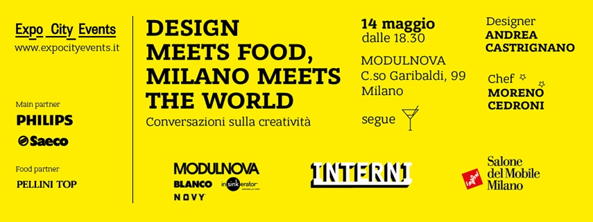 design meets the food, milano meets the world